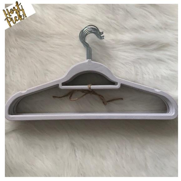 White Velvet Hangers Set of 20-Slimline